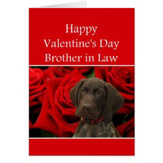 義理の兄弟の光沢のあるハイイログマのバレンタインの初恋 カード