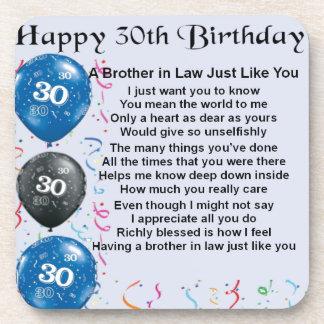 義理の兄弟の詩の第30誕生日 コースター