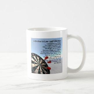 義理の兄弟の詩-投げ矢のデザイン コーヒーマグカップ