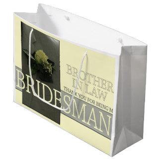 義理の兄弟のBridesmanは感謝していしています ラージペーパーバッグ