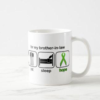 義理の兄弟は睡眠の希望-リンパ腫--を食べます コーヒーマグカップ