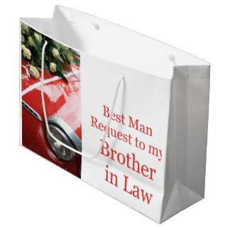 義理の兄弟は花婿介添人-招待です ラージペーパーバッグ