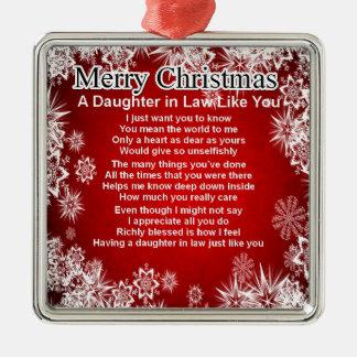 義理の娘の詩-クリスマスのデザイン メタルオーナメント