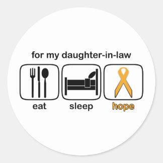義理の娘は睡眠の希望-白血病--を食べます ラウンドシール