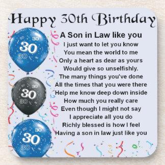 義理の息子の詩-第30誕生日 コースター