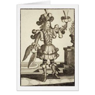 羽のディーラーのための衣裳、パブ。 Gerard Valck著 カード