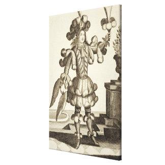 羽のディーラーのための衣裳、パブ。 Gerard Valck著 キャンバスプリント