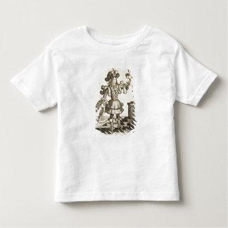 羽のディーラーのための衣裳、パブ。 Gerard Valck著 トドラーTシャツ