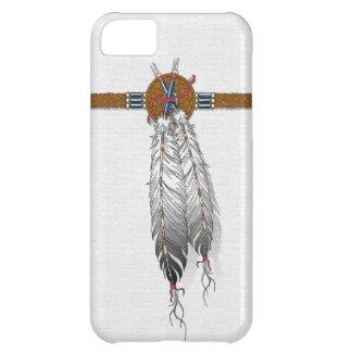 羽のネイティブアメリカンのiphoneの場合 iPhone5Cケース
