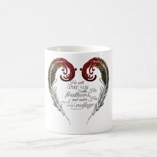 羽のハートの聖なる書物、経典のマグ コーヒーマグカップ