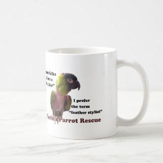 羽のプラッカーか。 いいえの羽のスタイリスト! コーヒーマグカップ