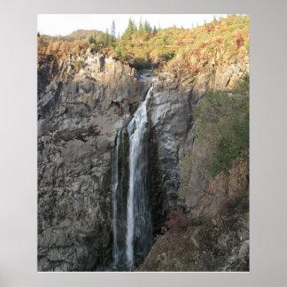 羽の滝、カリフォルニア ポスター