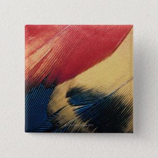 羽の表面3 5.1CM 正方形バッジ