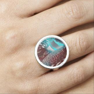 羽の質のテンプレート 指輪