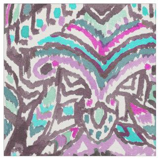 羽のBohoの野蛮な水彩画の種族の生地 ファブリック