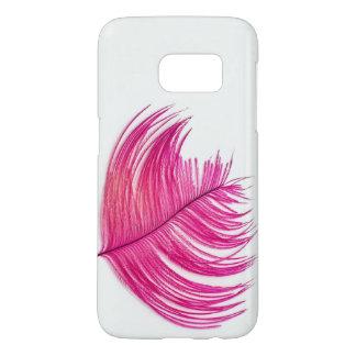 羽のSamsungのピンクの銀河系S7、やっとそこに Samsung Galaxy S7 ケース