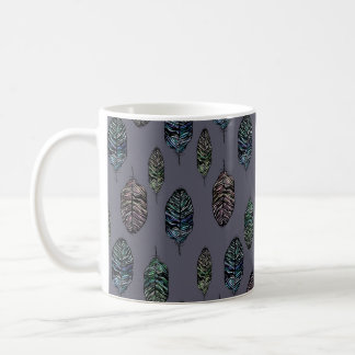 羽パターン コーヒーマグカップ