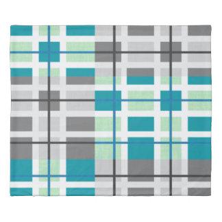 羽毛布団カバー粋な灰色の真新しいティール(緑がかった色)の白 掛け布団カバー