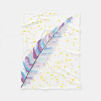 羽毛布 フリースブランケット