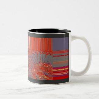 羽、デジタル抽象的概念 ツートーンマグカップ