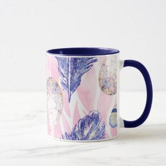 羽、斑点を付けられた卵の森林コーヒー・マグ マグカップ