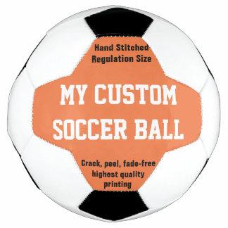 習慣によってサッカーボールのフットボールのFutbolの印刷されるオレンジ サッカーボール