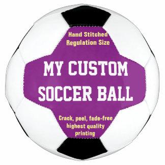 習慣によってサッカーボールのフットボールのFutbolの印刷される紫色 サッカーボール