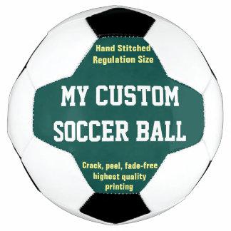 習慣によってサッカーボールのフットボールのFutbolの印刷される緑 サッカーボール