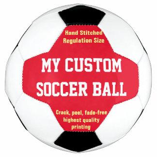 習慣によってサッカーボールのフットボールのFutbolの印刷される赤 サッカーボール