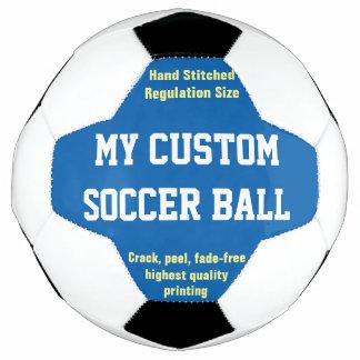 習慣によってサッカーボールのフットボールのFutbolの印刷される青 サッカーボール