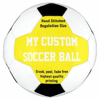 習慣によってサッカーボールのフットボールのFutbolの印刷される黄色 サッカーボール