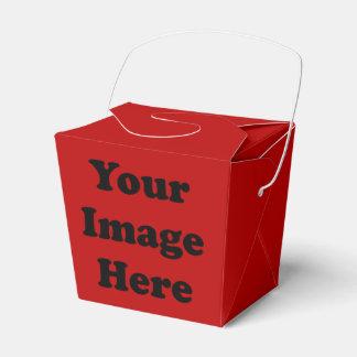 習慣の空白のなテンプレートの赤いテイクアウトの好意箱 フェイバーボックス