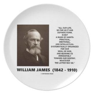 習慣の運命の引用文のウィリアム・ジェームズの固まり プレート