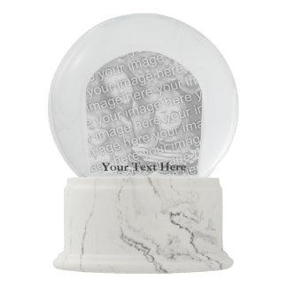 習慣写真のSnowglobeのあなたの白い大理石の終わり スノーグローブ