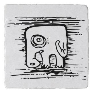 習慣的な創造物は象Trivetに気づかせます トリベット