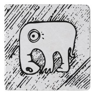 習慣的な創造物フレンドリーな象の石Trivet トリベット