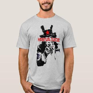 習慣的な自殺の米国市民 Tシャツ