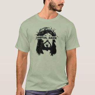 習慣的な自殺イエス・キリスト Tシャツ