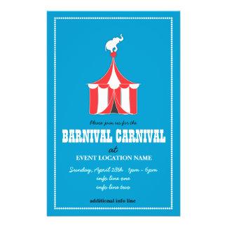 習慣|カーニバル|エベント|フライヤ|青い パーソナライズチラシ広告