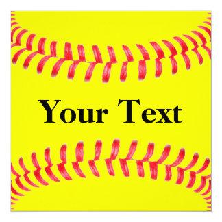 習慣|ソフトボール|招待状 13.3 スクエアインビテーションカード