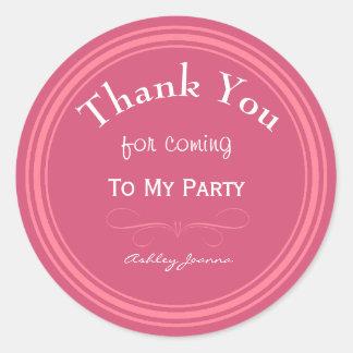 習慣|ピンク|感謝していして下さい||ステッカー 丸形シール・ステッカー