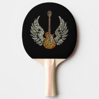 翼が付いているギター 卓球ラケット