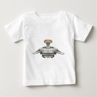 翼が付いている円形の宇宙船 ベビーTシャツ