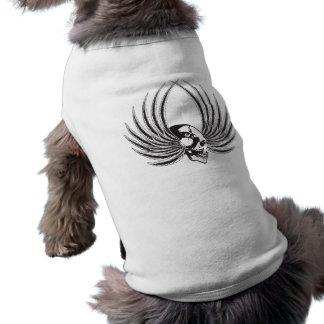 翼が付いているFangedのスカル ペット服