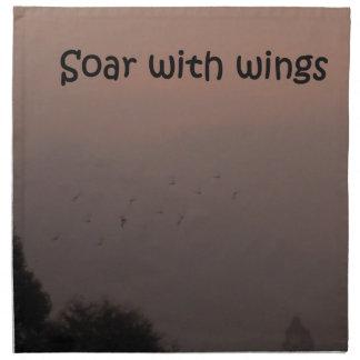 翼によって上昇して下さい ナプキンクロス
