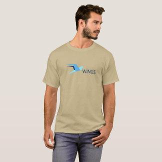 翼の暗号の通貨のTシャツ Tシャツ