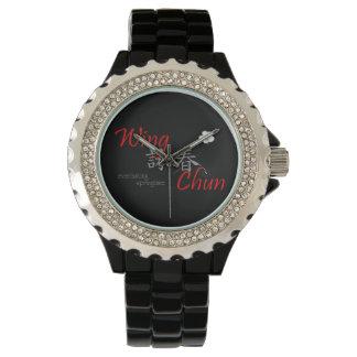 翼のChunの永遠に続く春の腕時計(赤い) 腕時計