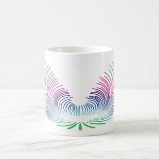 翼(青い) コーヒーマグカップ