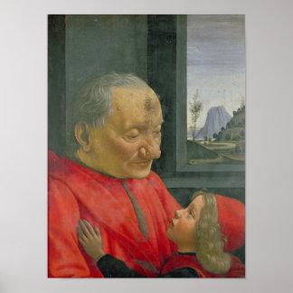 老人および男の子、1480s ポスター