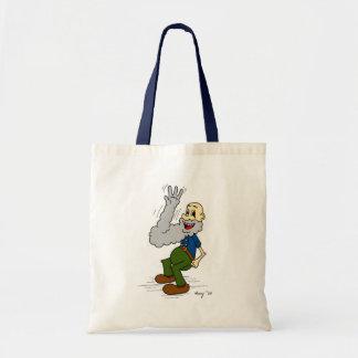 老人の振るひげの漫画のトートバック トートバッグ